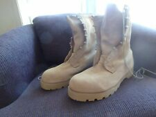 Wellco T186 Temperate Weather Combat Boots Desert Tan Size 15.5 R  New in B