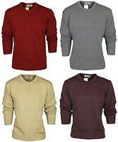New Mens Sweater High Profile Carabou Crew Neck Jumper Cardigan Knitwear M-2XL
