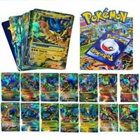 200PCS Pokemon Card 170GX+10Trainer+20Energy Holo Flash Trading Cards Game Gift