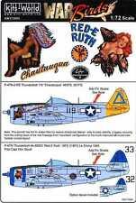 Kits World Decals 1/72 REPUBLIC P-47D THUNDERBOLT Chautauqua & Red-E Ruth