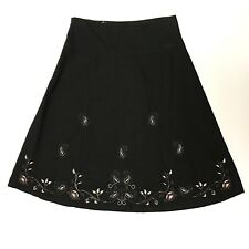 No Attitude Womens Boho Embroidered Gypsy / A Line Midi Skirt Size Medium