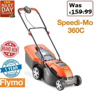 New Flymo Speedi-Mo 360C Electric Lawnmower /  Rotary Lawn Mower Metal Blade