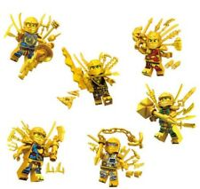 Lot of 6 Gold Ninjago Ninja Super Weapon Mini Figures Building Blocks LEGO Toys