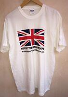 Men's White T-Shirt Size L Gildan<NH5490z