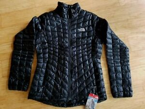 THE NORTHFACE WOMENS M/Medium   THERMOBALL JACKET  Black NWT 100% AUTHENTIC
