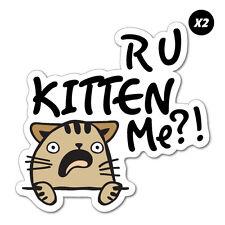 2x R U Kitten Me Sticker Decal Funny Vinyl Car Bumper #7152EN