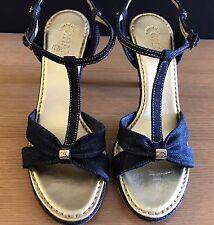 Chanel Denim Sandals Size 40