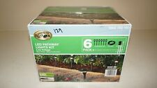 New Hampton Bay DL10103BKS Low-Voltage LED Black Landscape Path Light Kit 6-Pack