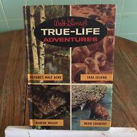 Vtg Walt Disney's True-Life Adventures Book hardcover Golden Press Bear country