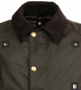 Barbour Ashby Waxed Men's Jacket Olive Green Size UK M 40-42 in