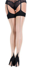 L'AGENT By AGENT PROVOCATEUR Seam & Heel Stocking Nude/Black Size M BNIP