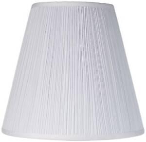 "Lamp Shade Medium Mushroom Pleated 9"" Top x 16"" Bottom x 14.5"" Height (Spider)"