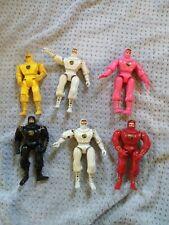 Power Rangers Ninja Rangers 1995 Movie Lot of 6 White x2 Pink Yellow Black Red