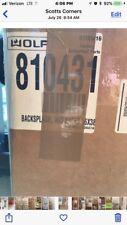 "Wolf 810431 66""x38"" Stainless Steel Backsplash"