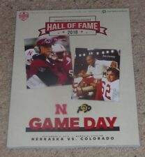 2018 Nebraska vs. Colorado Buffaloes Football Program 9-8-2018