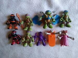 Teenage Mutant Ninja Turtles Half Shell Heroes Lot, Splinter, Leo, Donny, flyer