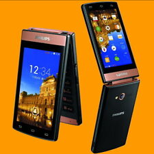 "Philips Xenium V989 13MP Dual SIM Standby 3.7"" 4G LTE 3G Android Flip Smartphone"