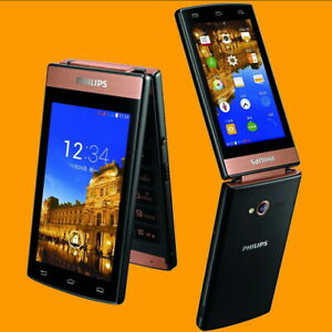 """Philips Xenium V989 13MP Dual SIM Standby 3.7"""" 4G LTE 3G Android Flip Smartphone"""