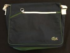 Green & Blue Lacoste Laptop Bag Briefcase Messenger Shoulder Bag. EUC