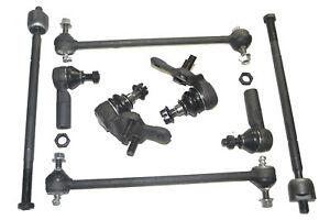 Suspension & Steering Kit Sway Bar Link Ball Joint Tie Rod Ends Toyota Sienna 03