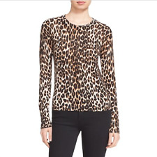 """Equipment """"Shirley"""" Sweater NWT size Large Leopard Print Crew Neck Sloan Shirt"""