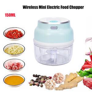 Mini Wireless Electric Food Chopper Vegetable Fruit Garlic Press Processor UK