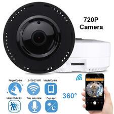 Mini 360 Degree Panoramic Wireless Wifi IP Camera Two Way Audio Fisheye 720P HD