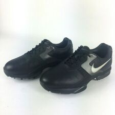 New listing Nike Air Academy II Mens Golf Shoes Black Silver Lace Up 483248-001 7.5 !!