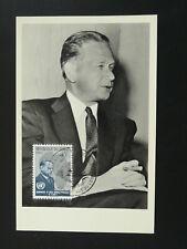 Peace nobel prize Dag Hammarskjold (Sweden) UNO maximum card 1962 Congo 86175