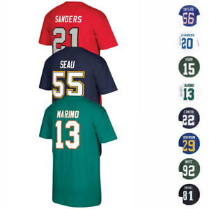 NFL Mitchell & Ness Retired Player Name & Number Jersey T-Shirt Collection Men's
