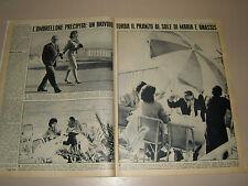 MARIA CALLAS clipping articolo foto fotografia 1962 OMBRELLONE ONASSIS AGNELLI