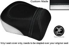 BLACK & WHITE VINYL CUSTOM FITS SUZUKI INTRUDER VL 1500 98-04 REAR SEAT COVER