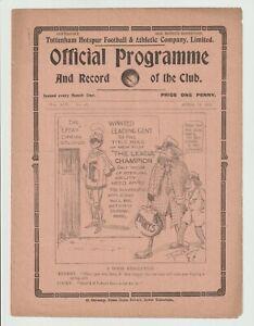 Tottenham Hotspur V Oldham Athletic Rare Division One Programme 1921/22 - Superb