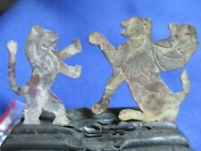 Antique Brass Jewish Lion of Judah and Griffin Super Old!