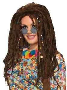 Dreads Wig 60's Generation Hippie Fancy Dress Halloween Adult Costume Accessory