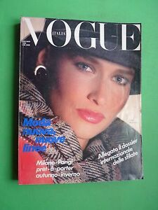 Vogue Italy July Agosto 1983 Rosemary Macgrotha Cover Pret A Porter Autumn