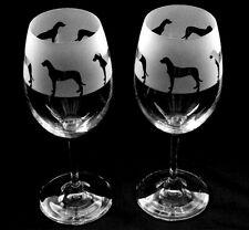 More details for great dane dog wine glasses tulip shape...boxed