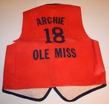 Rare 1969-70 Archie Manning #18 OLE MISS Football Vest
