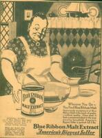 Clipping-Newspaper Advertising Prohibition Blue Ribbon Malt Extract 3LB Can 1930