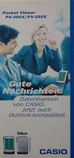 Prospekt: Organizer / PDA / Taschen-PC Pocket Viewer CASIO PV-450X, PV-250X