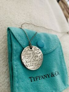 """tiffany & co silver notes necklace with 16"""" chain"""