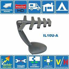 IL10U-A AMPLIFIED LOG PERIODIC (~25dB) INDOOR DIGITAL HD TV ANTENNA FOR FREEVIEW