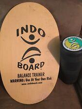 "Original Indo Board w/ Roller Surf Skate Yoga Balance Trainer 30"" x 18"" Board"