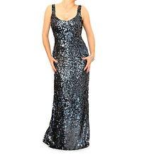 Just Blue - New Full Length Sequin Maxi Dress