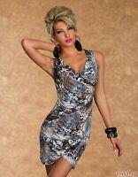 Miniabito  Vestito Donna Vestitino Abito SWEET MISS K20652-B516 Tg XL  **
