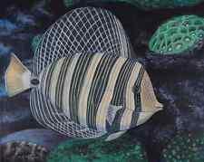 Sailfin Tang, Fish Tank, Underwater, Original  Acrylic Painting, Signed, Art