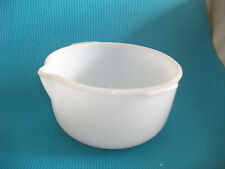 vintage sunbeam  white glass mixmaster mixer bowl medium