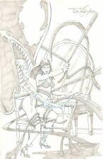 Mary Jane Watson in Lingerie vs. Venom Pencil Commission - 2010 art by Tom Lyle