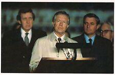 PRESIDENT JIMMY CARTER Walter Mondale Iranian Hostage Situ POSTCARD 1981