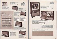 alter Prospekt SIEMENS RADIO um 1958 Radiogeräte und Fernsehgeräte    ( 4672